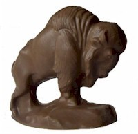 3D Solid Chocolate Buffalo